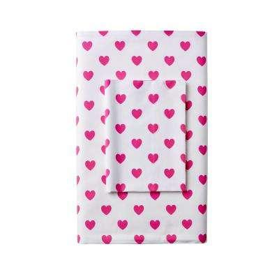 Sweetheart Cotton Percale Pillowcase (Set of 2)