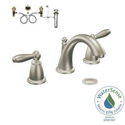 Brantford 8 in. Widespread 2-Handle Bathroom Faucet Trim Kit with Valve in Brushed Nickel