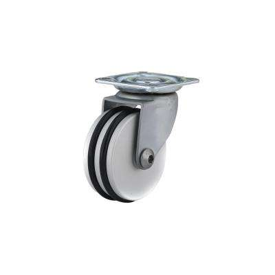 1-31/32 in. black and Aluminum Swivel Without Brake Plate Caster, 88.2 lb. Load Rating