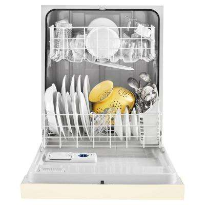 Front Control Built-In Tall Tub Dishwasher in Biscuit