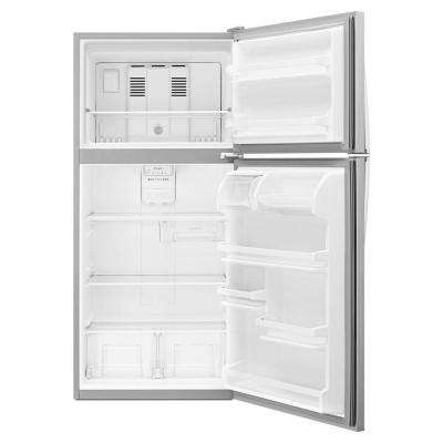 18.2 cu. ft. Top Freezer Refrigerator in Monochromatic Stainless Steel