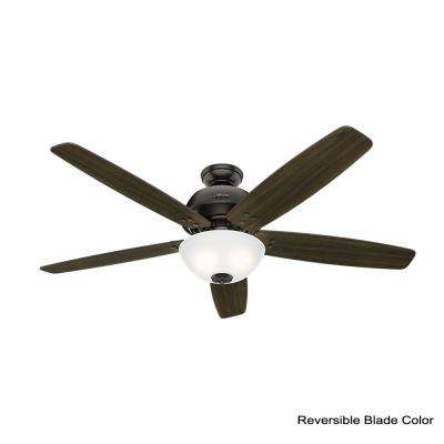 Reveille 60 in. LED Indoor Noble Bronze Ceiling Fan with Light and Remote