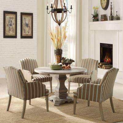 Kinsley 5-Piece Wood Dining Set in Driftwood