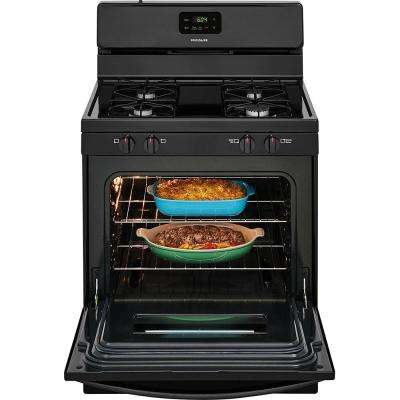 4.2 cu. ft. Gas Range in Black