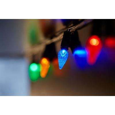 8 ft. 20-Light C3 LED Multi-Color Battery Operated String Lights