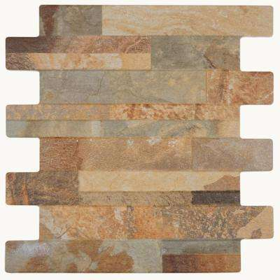 Bombay Marron 13 in. x 13 in. Porcelain Wall Tile (10.3 sq. ft. / case)