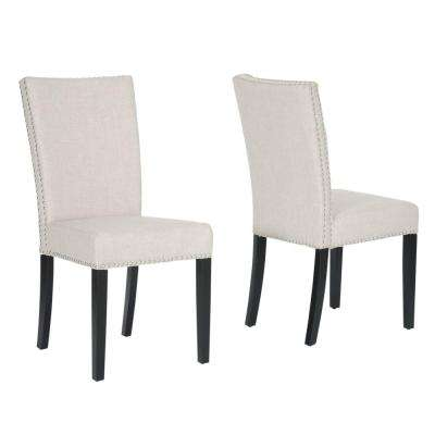 Harrowgate Beige Fabric Dining Chair (Set of 2)