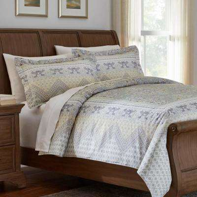 Delilah 3-Piece Medallion Duvet Cover Set