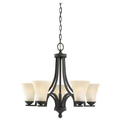Somerton 5-Light Blacksmith Single-Tier Chandelier