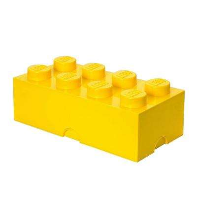 Storage Brick 8 - 9.84 in. D x 19.76 in. W x 7.12 in. H Stackable Polypropylene in Bright Yellow