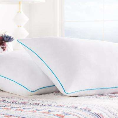 Shredded Memory Foam Pillows – Set of 2 – Moldable Shredded Memory Foam Fill