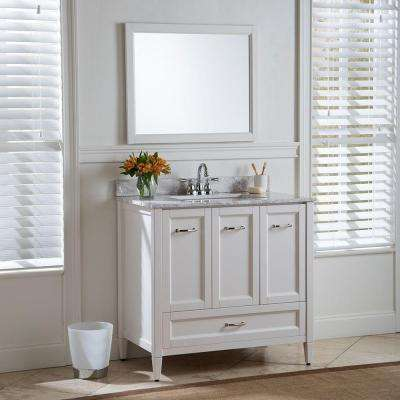 Claxby 36 in. W x 34 in H x 22 in. D Bath Vanity Cabinet Only in Cream