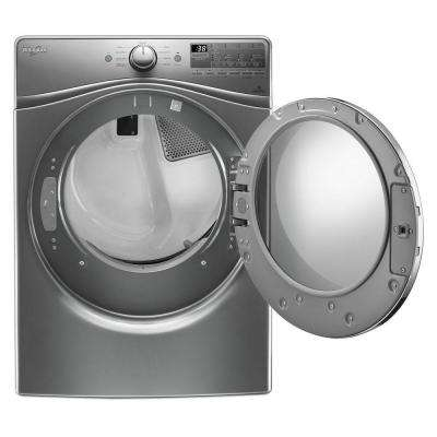 7.4 cu. ft. 240 -Volt Stackable Chrome Shadow Electric Vented Dryer withAdvanced Moisture Sensing, ENERGY STAR