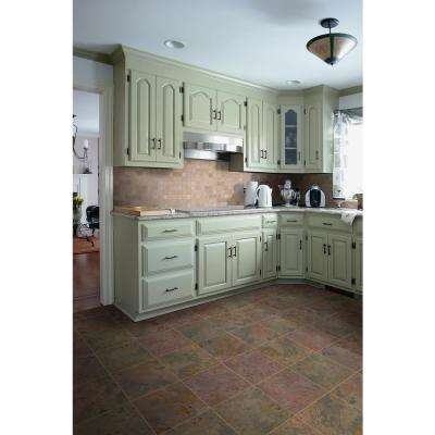 Peacock 16 in. x 16 in. Gauged Slate Floor and Wall Tile (8.9 sq. ft. / case)