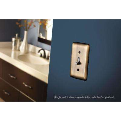 Brass No Gang Blank Plate Wall Plate (1-Pack)
