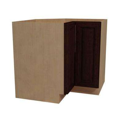 36x34.5x24 in. Somerset Assembled Easy Reach Base Cabinet with Left Hand in Manganite