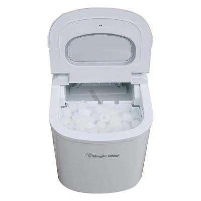 27 lb. Portable Countertop Ice Maker in White