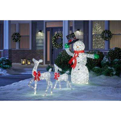 Polar Wishes 63 in. Christmas 175-Light LED Animated PVC Snowman with Hat and Scarf