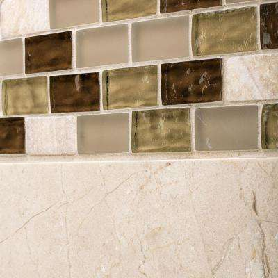 Roma Linea 12 in. x 12 in. x 8 mm Glass Onyx Mosaic Wall Tile