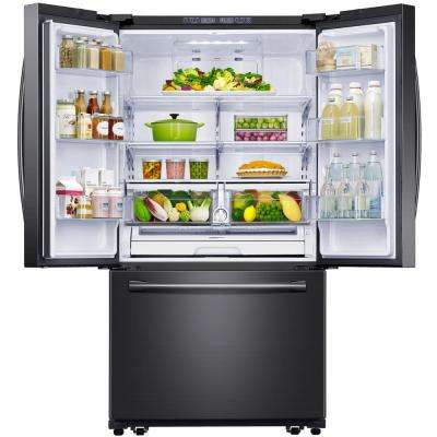 25.5 cu. ft. French Door Refrigerator with Internal Water Dispenser in Fingerprint Resistant Black Stainless