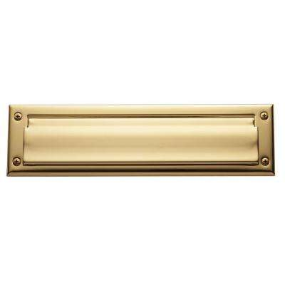 0012 Letter Box Plate Lifetime, Polished Brass