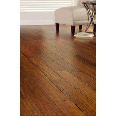 Hand Scraped Strand Woven Harvest 1/2 in. T x 5-1/8 in. W x 72-7/8 in. L Solid Bamboo Flooring