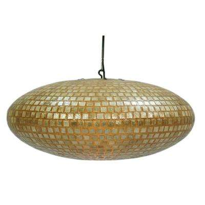 Desna 1-Light Saucer Shape Hanging Pendant with Natural Shell