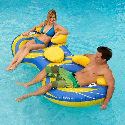 Blue Wave 2-Person Inflatable Cooler Tube