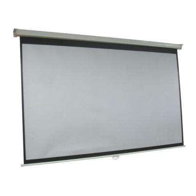 ProHT 120 in. Manual Projection Screen with White Frame