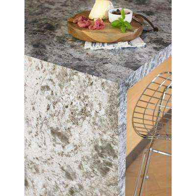 4 ft. x 8 ft. Laminate Sheet in 180fx Silver Flower Granite with Artisan Finish