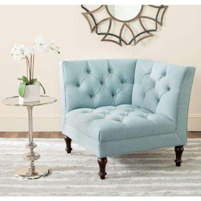 Jack Sky Blue Linen/Polyester Side Chair