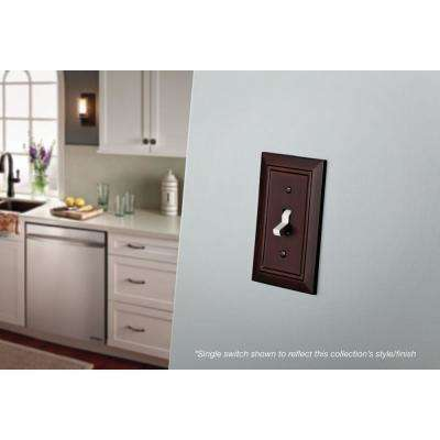 Brown 2-Gang Duplex Outlet Wall Plate (3-Pack)
