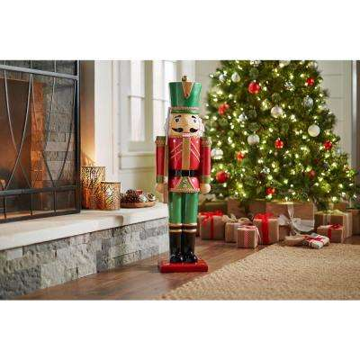 3 ft. Metallic Nutcracker Soldier with Staff