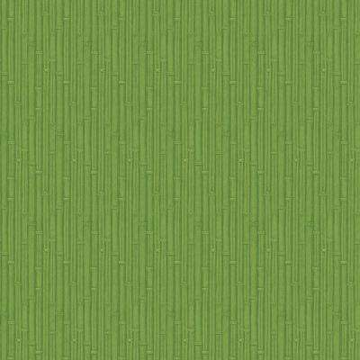 56 sq. ft. Kelly Green Tooled Bamboo Wallpaper