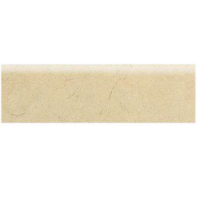 Marissa Crema Marfil 3 in. x 12 in. Ceramic Bullnose Floor and Wall Tile