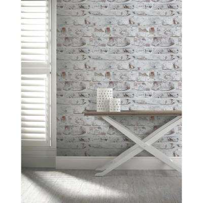 Whitewash Wall White Wallpaper