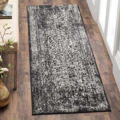 Evoke Black/Gray 2 ft. x 11 ft. Runner Rug