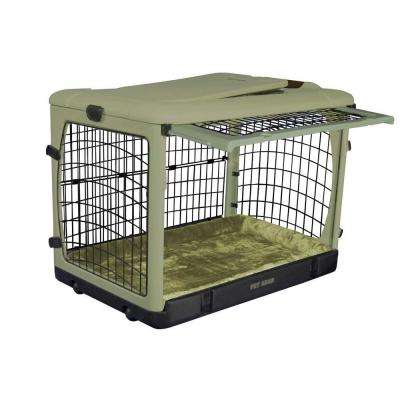 36.5 in. x 24.5 in. x 27.5 in. The Other Door Steel Crate with Plush Pad