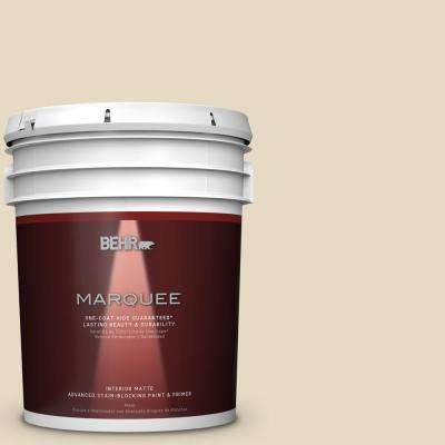 5 gal. #MQ2-31 Scribe One-Coat Hide Matte Interior Paint