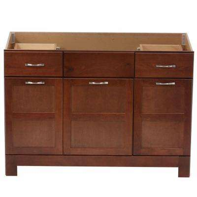 Casual 48 in. W x 21 in. D x 33.5 in. H Vanity Cabinet Only in Cognac