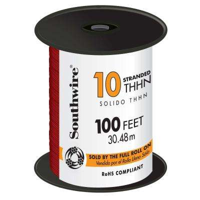 100 ft. 10 Red Stranded THHN Wire