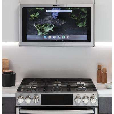 Profile Kitchen Hub 30 in. Smart 600 CFM Range Hood with Light in Stainless Steel