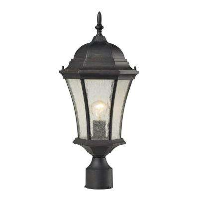 Wellington Park 1-Light Weathered Charcoal Outdoor Post Lamp
