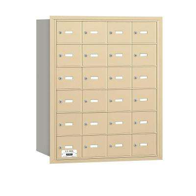 Sandstone USPS Access Rear Loading 4B Plus Horizontal Mailbox with 24A Doors