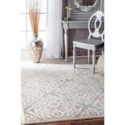 Contessa Silver 9 ft. x 12 ft. Area Rug