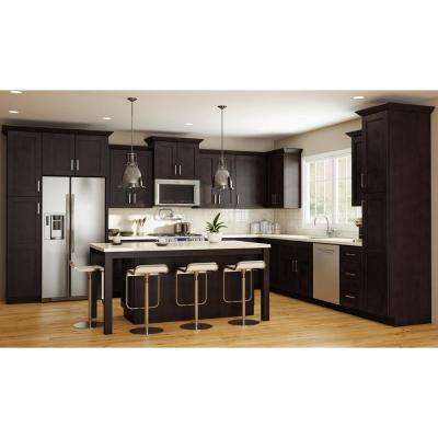 Franklin Assembled 18 x 96 x 24 in. Pantry/Utility 2 Single Door Hinge Kitchen Cabinet in Manganite