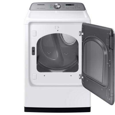 7.4 cu. ft. 120-Volt White Gas Vented Dryer with Steam Sanitize and Sensor Dry ENERGY STAR