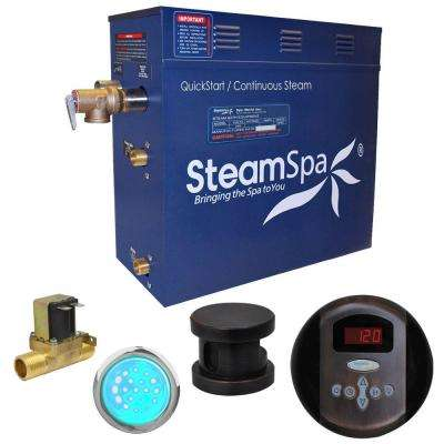 Indulgence 4.5kW QuickStart Steam Bath Generator Package with Built-In Auto Drain in Oil Rubbed Bronze