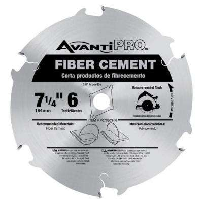 7-1/4 in. x 6-Tooth Fiber Cement Cutting Saw Blade