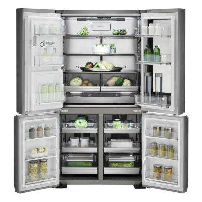 30 cu.ft. LG Signature French Door Refrigerator in Textured Steel, Voice Activated